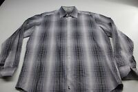 Tailorbyrd Gray Check LONG SLEEVE SHIRT Large L 16.5 x 36/37 Classic Fit