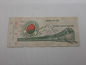 Vintage 1960's Or 70's Northern Pacific Railway Passenger Ticket T2