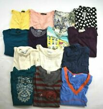 Wholesale Bulk Lot 14 Womens XL Long Sleeve Shirts Tops Blouses Career Mixed