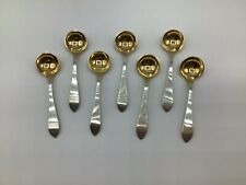 New ListingAntique- Set 7 Sterling - 3� Salt Spoons, Dominick & Haff, Pointed Antique