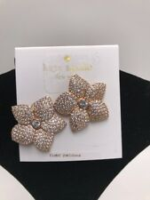 $98 Kate Spade Blooming Flower Pave Stud Earrings in Rose Gold J 73