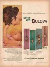 1959 Bulova PRINT AD 5 Watches featured Back side: Red Ford T-bird Convertible!