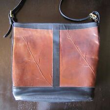 Women's C. L. Whiting Leaf Leather Purse - Medium Tote style