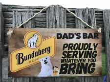 Wooden Sign plaque personalised Country Bar,GARAGE, Shed  Whatever You Bring AU