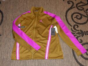 Rare Nike Air Jordan Jacket / Top Size L AV1830-368 Olive / Purple Jumpman