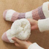 Women Warm Long Thicken Fleece Lined Socks Winter Soft Cozy Fuzzy Slipper