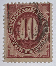 Travelstamps:1884-1889 US Scott# J19, used Ng Postage Due , 10 cents Handstamp