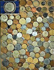 "World Coin lot  200+ mixed coins w/silver(3)+Bimetallic (3)+vintage(2) Lot ""CC"""