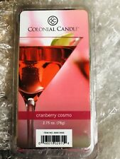 2 COLONIAL CANDLE Cranberry Cosmo WAX MELTS 6 Per PACKAGE - 12 Total