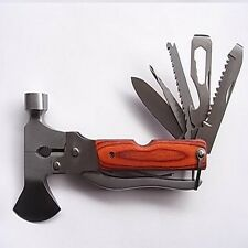 Tool Multi Hammer Axe Knife Wire Cutter Pliers Screwdriver Emergency Outdoor BOB