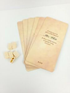 Clue 50th Anniversary edition 1998 Replacement Pieces Invitations Clips