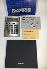Toshiba LC-1016 Liquid Crystal Calculator Working With Case Paperwork And Box
