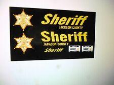 Jackson County Missouri  Sheriff Patrol Car Decals 1:24