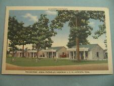 George Anna Courts Motel JACKSON TENNESSEE TN Vintage Linen Postcard