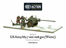 """WARLORD GAMES Bolt ACTION ww2 US Army m5 3"""" cannone anticarro GRATIS UK P & P"""