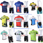 2016 New Bicycle racing suit  team men cycling jersey and bib shorts Race Fit