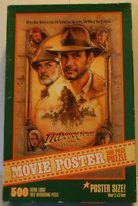 1989 Indiana Jones and the Last Crusade 500 Piece Movie Poster Puzzle Sealed New