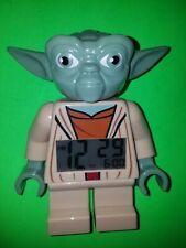 """Lego Star Wars Yoda Figure Digital Alarm Clock 7"""" tall Tested Works!"""