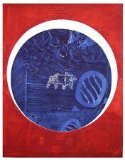 Chew WONG MOO - Gravure carborundum signée numérotée Ecriture 155 Malaisie 1970*