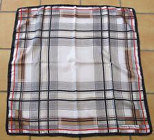 Très Joli foulard vintage Françoise Guérin twill de soie silk scarf