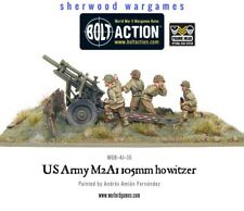 28mm Warlord US Army 105mm Howitzer And Crew, BNIB, WWII Bolt Action,