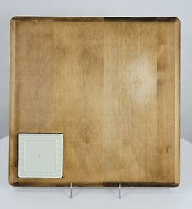 JK Adams for Nora Fleming Retired Wooden Cutting Board Square Insert Appetizer