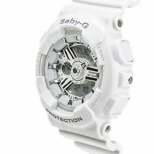Casio Baby-g Womens Wrist Watch Ba110-7a3 Ba110-7a3cr Gloss White-silver