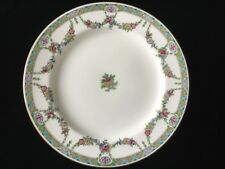 "Minton England Turquoise & Pink Floral Swag Dinner Plate 10 3/8"" B435"