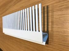 400mm length. Aquarium 50mm Groove Tank Weir Comb White PVC 3 Styles available.