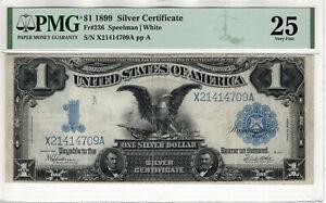 1899 $1 SILVER CERTIFICATE BLACK EAGLE FR.236 SPEELMAN WHITE PMG VF 25 (709A)