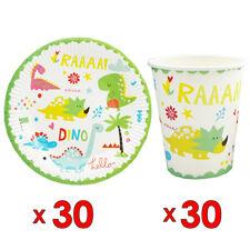 30pcs Dinosaur Paper Plate & 30pcs Cup Tableware Set Decoration Party Supplies