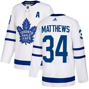 Toronto Maple Leafs Auston Matthews Adidas 2020/21 Away White Jersey- (A) Patch