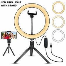 10'' LED Lamp Ring Light Dimmable Lighting Kit Selfie Tripod Makeup Youtube Live