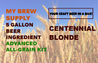 Centennial Blonde Ale Advanced ALL GRAIN Beer Ingredient Kit by My Brew Supply
