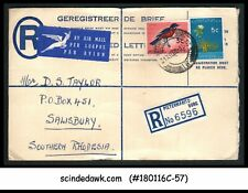 SOUTH AFRICA - 1962 REGISTERED ENVELOPE TO PRETORIA WITH BIRD STAMP