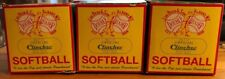 Lot of 3 No. F 12 Official Clincher Softballs (Unused And Unopened)
