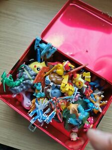 Pokemon Figure Lot- metal lunch box and toys