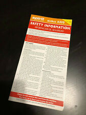 Spirit Airbus A320 Airline Safety Card