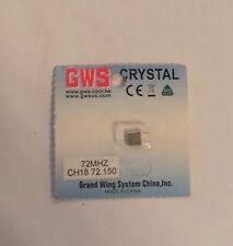 GWS FM-RX Crystal CH18 72MHz GWX1/R72150 FP&JR NIP