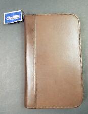 Vintage Coach Leather Zip Around Rustic Brown 6 Binder Planner Organizer