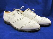 Footjoy Classics Golf Shoes Pure White Leather Spikeless Soft Spikes Mens 10 EEE