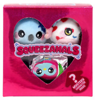 SQUEEZAMALS LI'L SWEETHEART EDITION 3 PACK MYSTERY MICRO MINI STUFFED PLUSH NEW