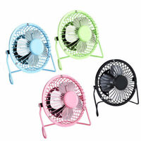 AU_ HN- USB Small Fan Desk Personal Table Cooling Electric Adjustable Tilt Stand