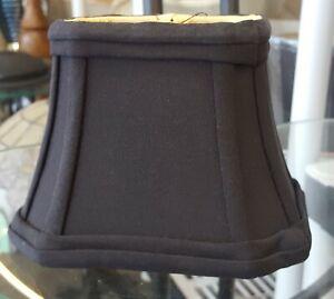 """Clip On Black Silk Shades (2.5"""" x 4"""") x (4.5"""" x 6"""" ) x 4.25"""""""
