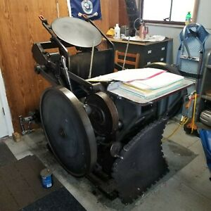 Chandler and Price printing press, was working when last used.