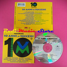 CD 10 ANNI DI SUCCESSI VIDEOMUSIC bryan ferry paul mccartney no mc dvd vhs(C34)