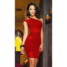 Suzanjas Kleid mit transparenten Einsätzen rot Größe M-L 38 - 40