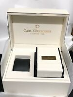 CARL F BUCHERER EMPTY WATCH BOX with TRAVEL POUCH INSIDE NEW CONDITION