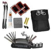 27PC FOLDING BICYCLE REPAIR TOOL KIT CYCLE MULTI FUNCTION TOOL & PUNCTURE KIT