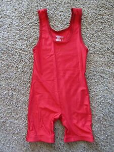 MATMAN Wrestling Co. Royal Red One Piece Suit USA Made Men's Size M